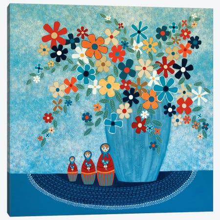 Babushka Love Floral Canvas Print #LJU63} by Lisa Frances Judd Canvas Print