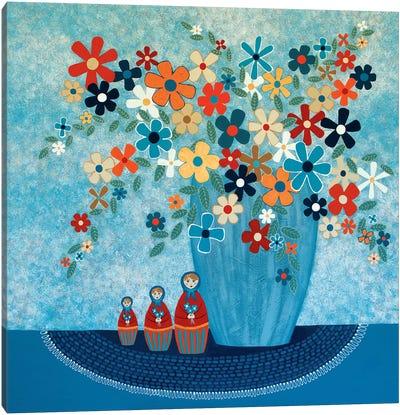 Babushka Love Floral Canvas Art Print