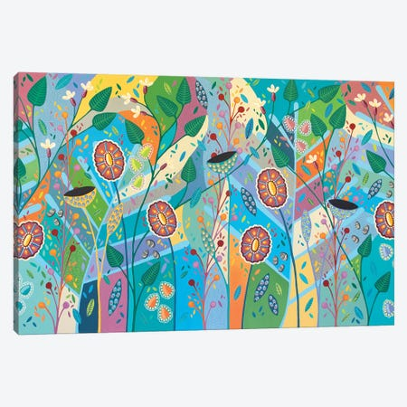 Blooming Marvelous 3-Piece Canvas #LJU6} by Lisa Frances Judd Canvas Wall Art