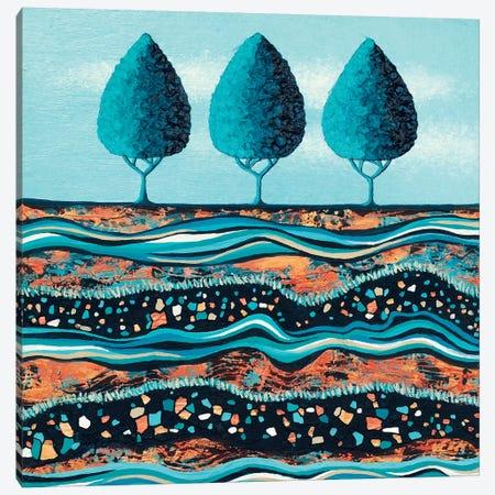 Aqua-Light Trees Canvas Print #LJU82} by Lisa Frances Judd Canvas Print