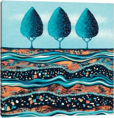 Aqua-Light Trees Canvas Art Print