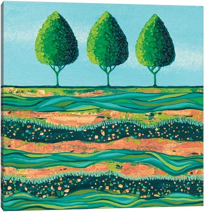 Lime-Light Trees Canvas Art Print