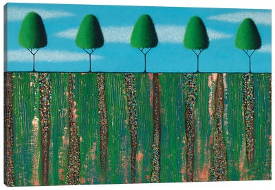 Trees Of Spring Canvas Art Print