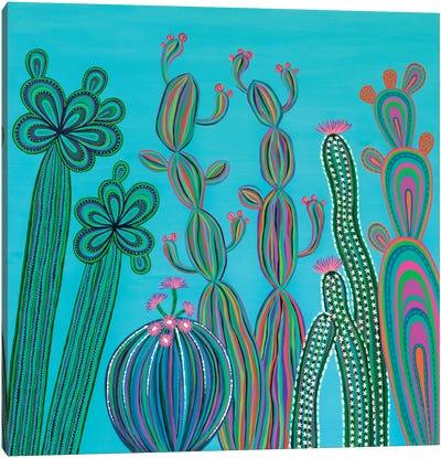 Cactus Party No.3 Canvas Art Print