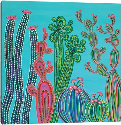 Cactus Party No.4 Canvas Art Print