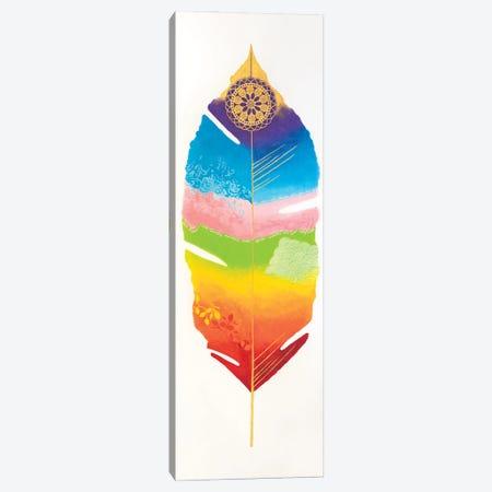 Chakra Feather No.1 Canvas Print #LJU98} by Lisa Frances Judd Canvas Wall Art