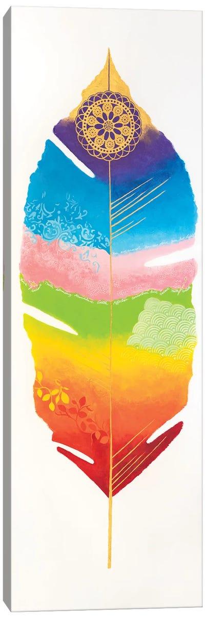 Chakra Feather No.1 Canvas Art Print