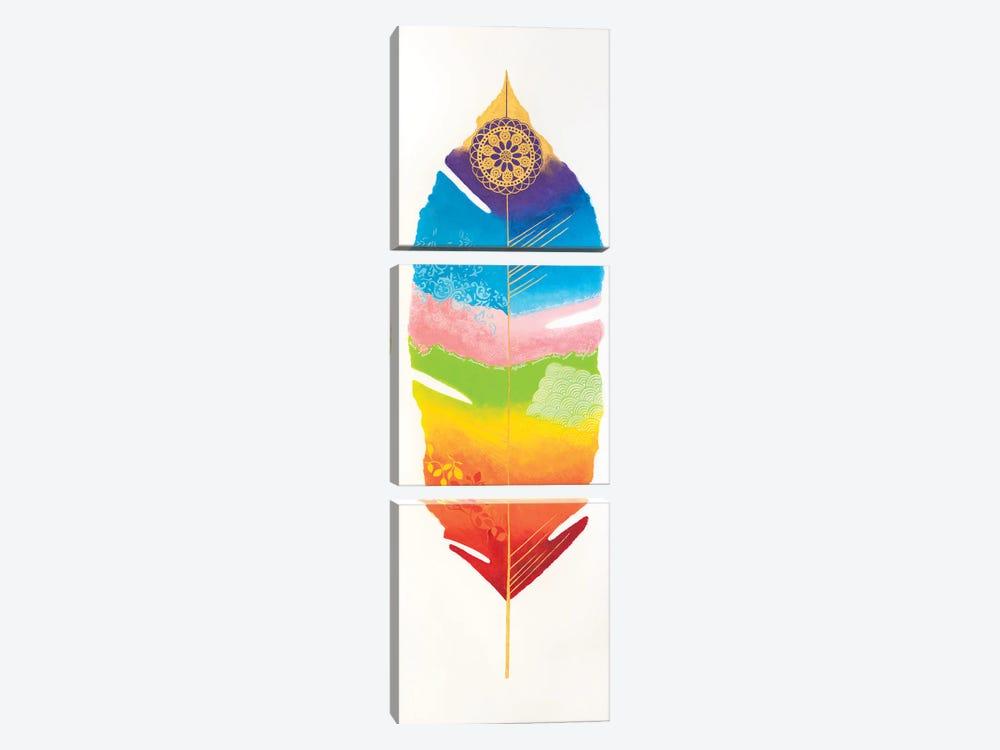Chakra Feather No.1 by Lisa Frances Judd 3-piece Art Print