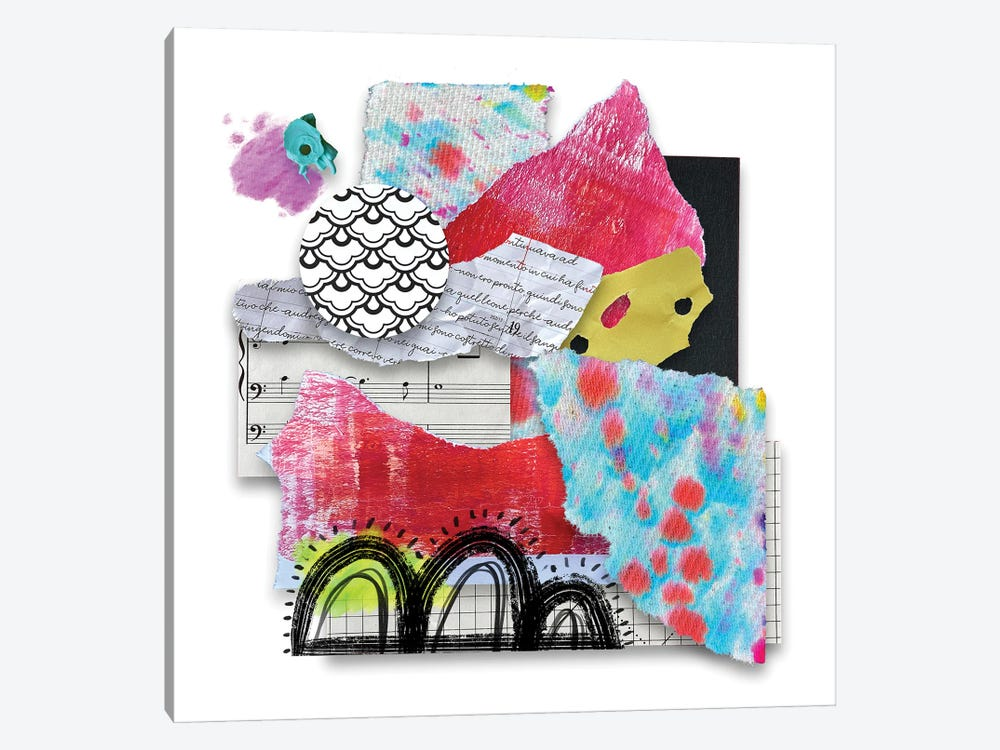 Colorful Music by Lanie K. Art 1-piece Canvas Artwork