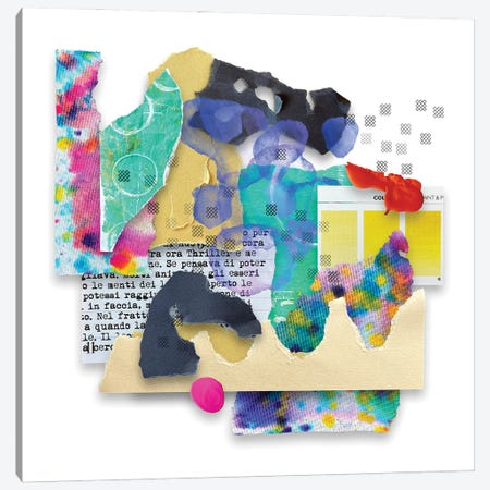 Somewhere In The Rainbow Canvas Print #LKA35} by Lanie K. Art Canvas Artwork