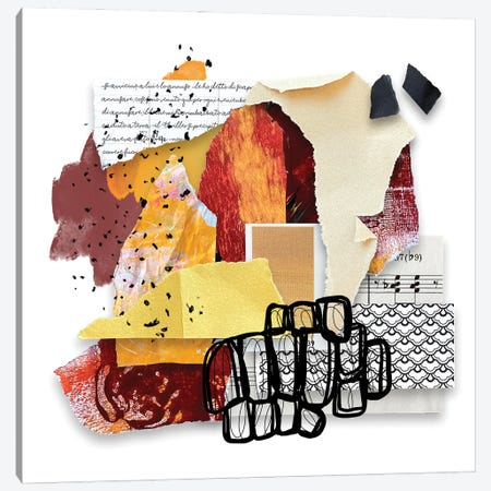 The Peach To My Plum Canvas Print #LKA37} by Lanie K. Art Canvas Art