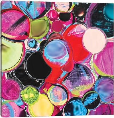 Melting Glass Spheres Canvas Art Print