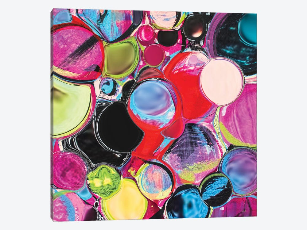 Melting Glass Spheres by Lanie K. Art 1-piece Canvas Wall Art