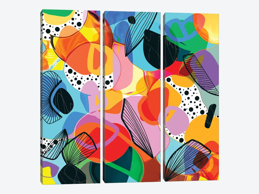 Bursting Bubbles 3-piece Canvas Artwork