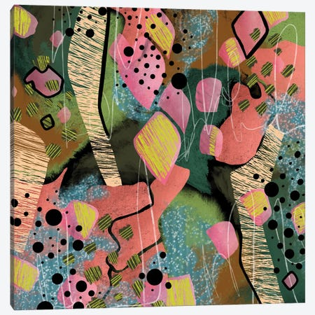 Toucans And Tropics Canvas Print #LKA51} by Lanie K. Art Canvas Art Print