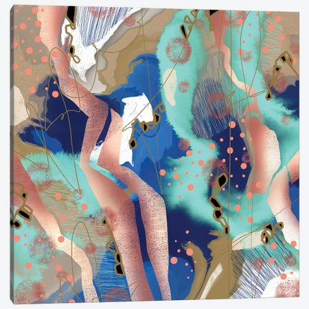 Pillow Fights Canvas Print #LKA52} by Lanie K. Art Canvas Art Print