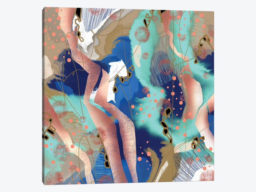 Pillow Fights by Lanie K. Art 1-piece Canvas Print