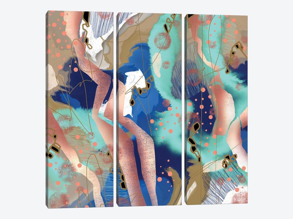 Pillow Fights by Lanie K. Art 3-piece Art Print