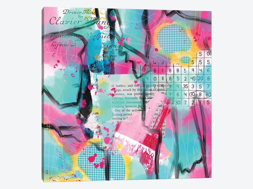 Numbers Up by Lanie K. Art 1-piece Canvas Artwork