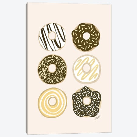 Donuts Illustration Canvas Print #LKC100} by LindseyKayCo Canvas Wall Art