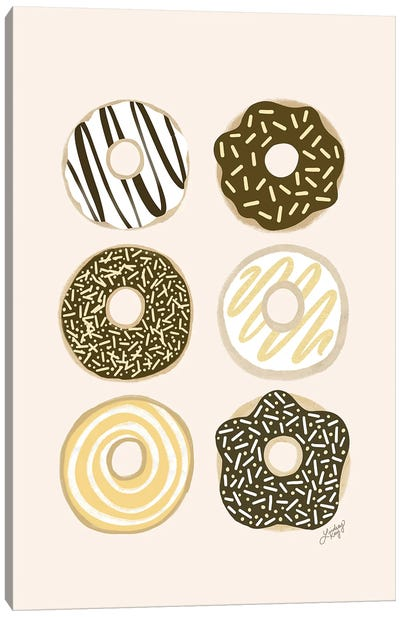 Donuts Illustration Canvas Art Print