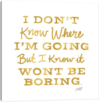 David Bowie Quote (Gold Palette) Canvas Art Print