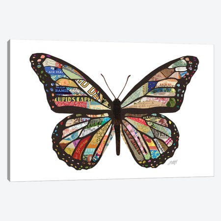 Colorful Butterfly Collage Canvas Print #LKC11} by LindseyKayCo Canvas Art Print