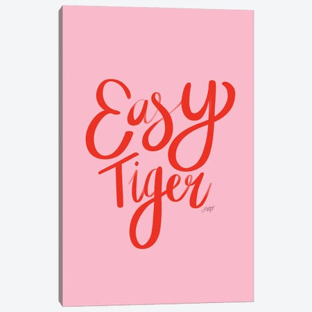 Easy Tiger I Canvas Print #LKC121} by LindseyKayCo Canvas Artwork