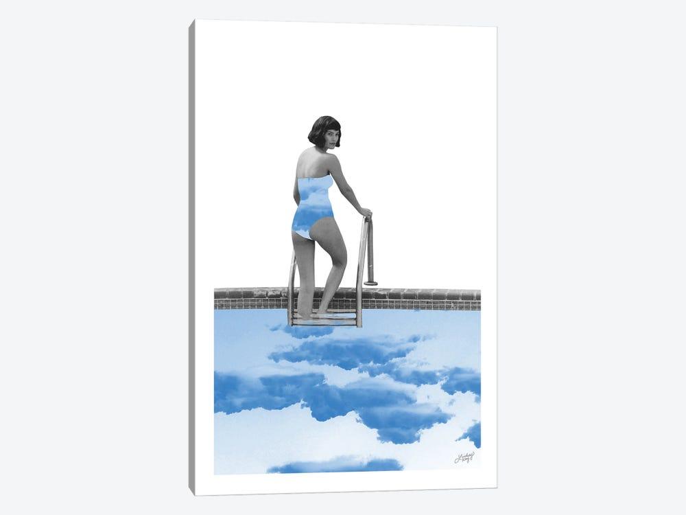 Lady In Pool by LindseyKayCo 1-piece Canvas Artwork