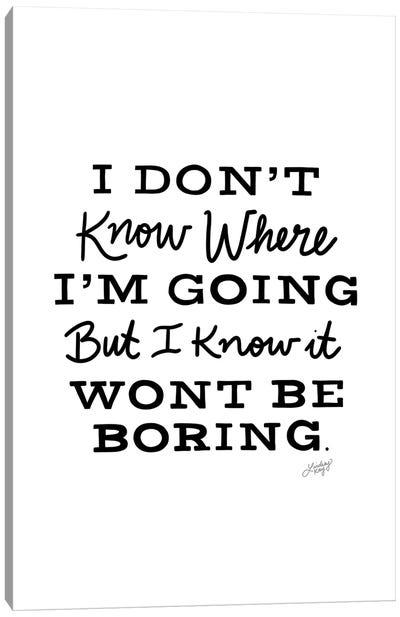 David Bowie Quote I Canvas Art Print