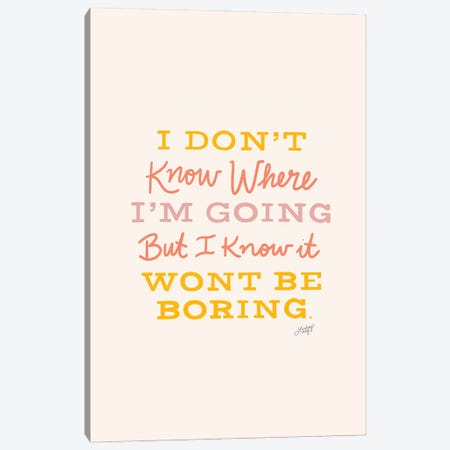 David Bowie Quote III Canvas Print #LKC128} by LindseyKayCo Canvas Art