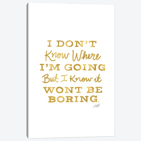 David Bowie Quote V Canvas Print #LKC130} by LindseyKayCo Canvas Print