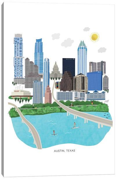Austin Cityscape Illustration Canvas Art Print