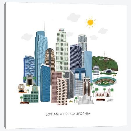Los Angeles Illustration Canvas Print #LKC140} by LindseyKayCo Canvas Wall Art