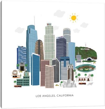 Los Angeles Illustration Canvas Art Print