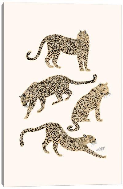 Leopards (Tan Palette) Canvas Art Print