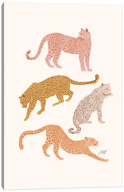 Leopards (Warm Palette) Canvas Art Print