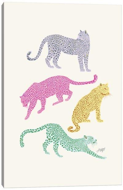 Leopards (Colorful Palette) Canvas Art Print