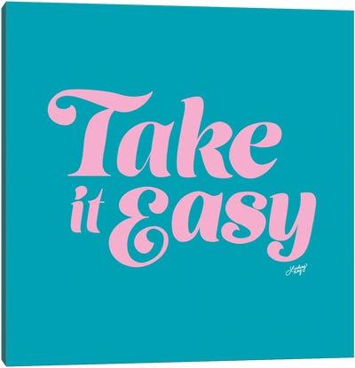 Take It Easy (Blue/Pink Palette) Canvas Art Print