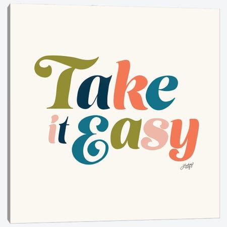 Take It Easy (Multi Color Palette) Canvas Print #LKC153} by LindseyKayCo Canvas Art Print