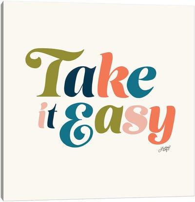 Take It Easy (Multi Color Palette) Canvas Art Print