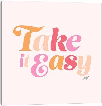 Take It Easy (Pink Palette) Canvas Art Print