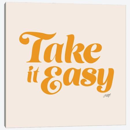 Take It Easy (Yellow Palette) Canvas Print #LKC156} by LindseyKayCo Canvas Art
