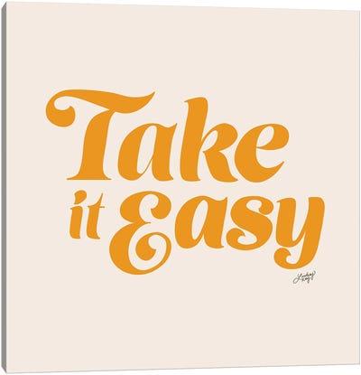 Take It Easy (Yellow Palette) Canvas Art Print