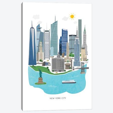 New York City Illustration Canvas Print #LKC159} by LindseyKayCo Art Print