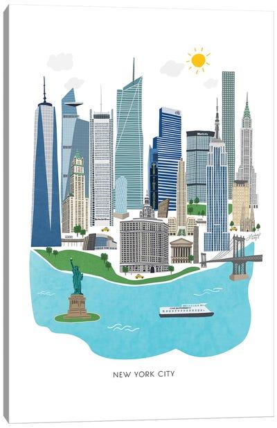 New York City Illustration Canvas Art Print