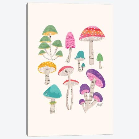 Colorful Mushrooms Canvas Print #LKC160} by LindseyKayCo Canvas Art