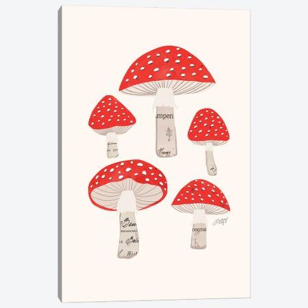 Red Mushrooms Canvas Print #LKC163} by LindseyKayCo Canvas Art