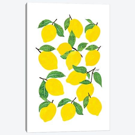 Lemons Canvas Print #LKC164} by LindseyKayCo Canvas Print