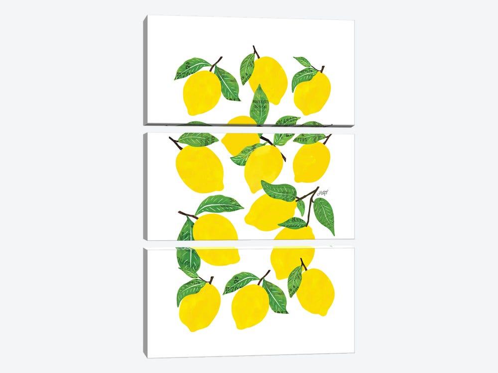 Lemons by LindseyKayCo 3-piece Canvas Print